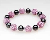 Multi Pink Crystal Magnetic Stretch Bracelet