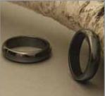 black hematite magnetic band ring