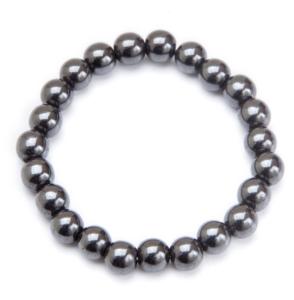 Black Beaded Magnetic Stretch Bracelet