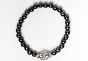 Silver Belt Buckle Magnetic Stretch Bracelet