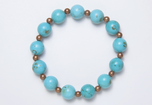 Turquoise & Brown Magnetic Bracelet