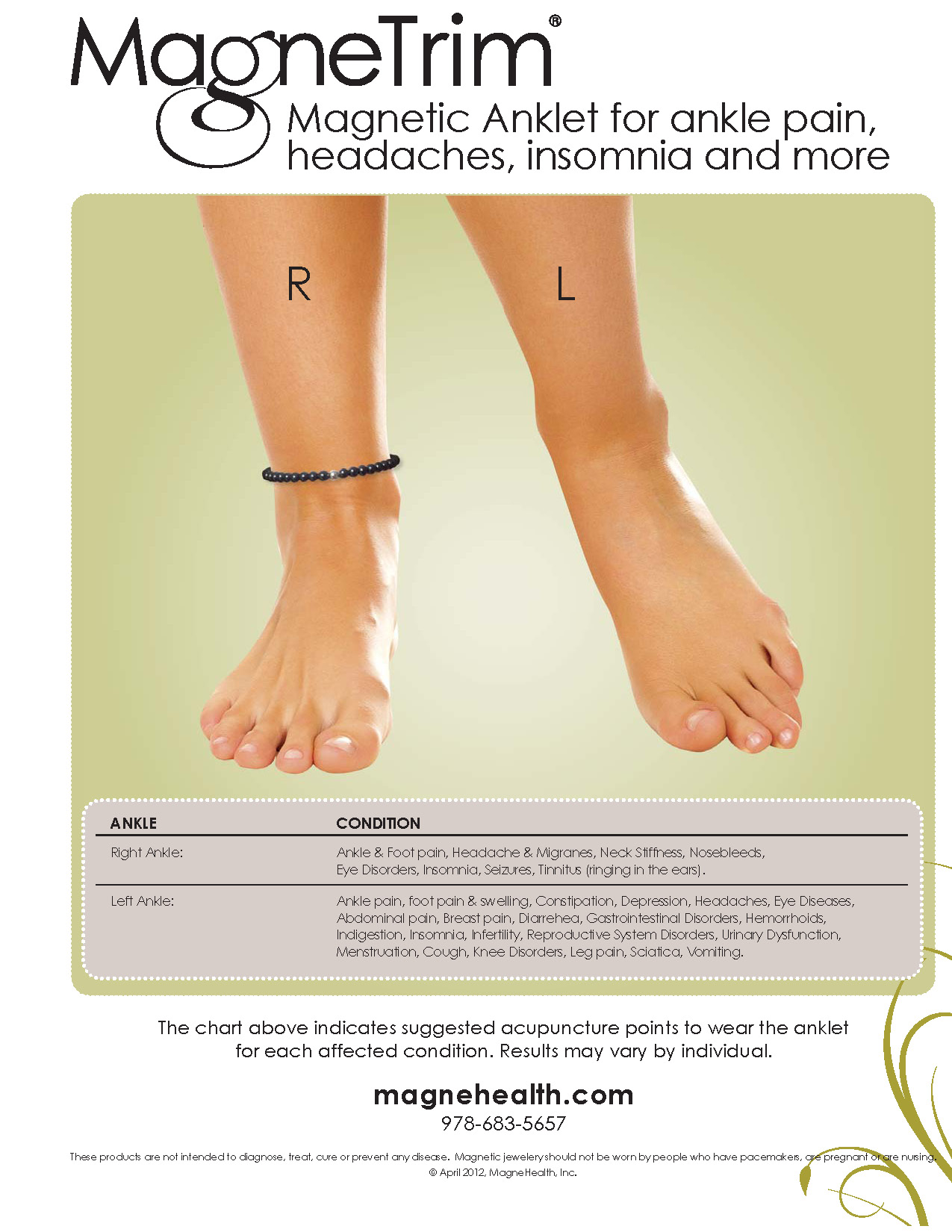 Ankle Pain, Headaches and Insomnia