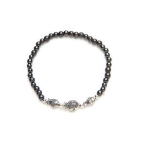 Black Fish Magnetic Stretch Bracelet