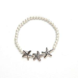 White Starfish Magnetic Stretch Bracelet