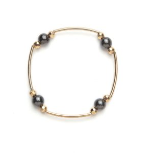 Gold and Black Magnetic Stretch Bracelet