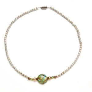 Peridot Magnetic Beaded Necklace