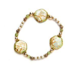 Peridot Magnetic Stretch Bracelet