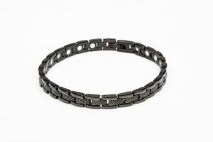 Thin Black Stainless Steel Magnetic Bracelet