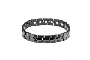Black High Gloss Stainless Steel Magnetic Bracelet